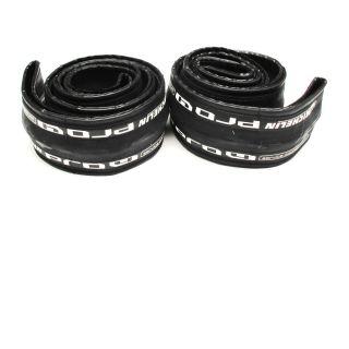 Pair Michelin Pro 4 Tire 700 x 23c Services Course Black Clincher Bike