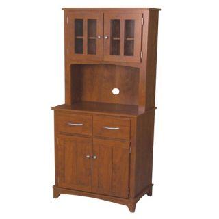 Oak Hills Microwave Cart in Oak Oak Hills Microwave Cabinet