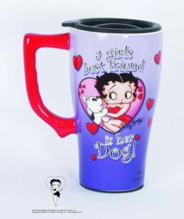 Betty Boop Ceramic Travel Mug A Girls Best Friend