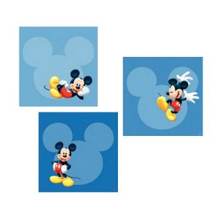 Mickey Mouse 3 Art Squares Wall Stickers New