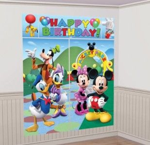Mickey Mouse Scene Setter Wall Decor Giant Poster Birthday Party