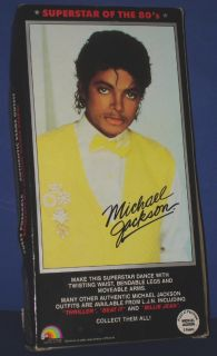 Michael Jackson Beat It Celebrity Doll LJN 1984 MIB