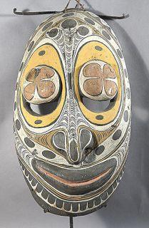 ANCESTOR SPIRIT MASK W/ BIG EYES MIDDLE SEPIK RIVER PAPUA NEW GUINEA