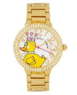 Betsey Johnson Watch, Womens Gold tone Bracelet BJ00074 01