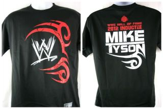 Mike Tyson WWE Hall of Fame Black T Shirt New