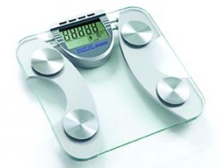 Baseline BMI Body Fat Weight Scale Tempered Glass Stainless Steel
