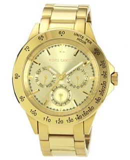 Vince Camuto Watch, Womens Gold Tone Stainless Steel Bracelet 41mm VC