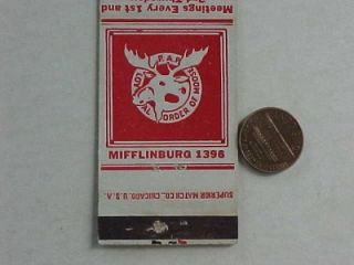 1940s WWII Era Mifflinburg Pennsylvania Moose Lodge Patriotic Eagle