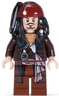 jack sparrow brown jacket LEGO fig f/ 4184 Black Pearl pirates of the