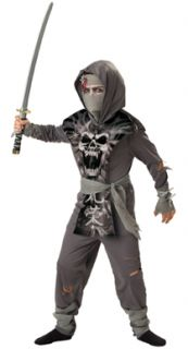 Boys Zombie Ninja Horror Halloween Costume Small Sz 6