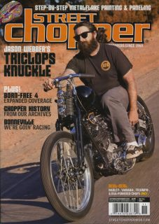 Street Chopper Magazine Oct Nov Motorcycle Bobber Bike Pinup Triumph
