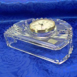 Crystal Wave Design Desktop Mantle Clock Mikasa Elegant Glass