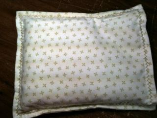Microwave Heating Cooling Corn Bags Ivory Green Flannel