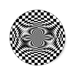 Optical illusions sticker