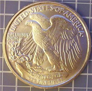 31.1 grams .999 PURE fine silver round bullion THE ORIGINAL WALKING