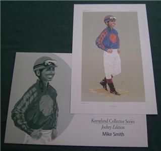 Mike Smith Horse Racing Jockey Print Keeneland Race Course Lexington