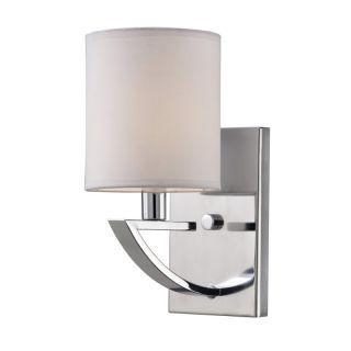 Canarm IVL425A01CH 1 Light Milano Wall Sconce Chrome W/ White Fabric