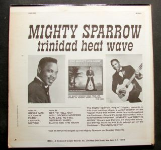 Mighty Sparrow Trinidad Heat Wave Original Stereo Mace LP Vintage