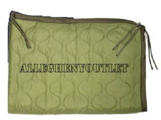 Gi Type Military Poncho Liner Olive Drab Quilted Army 62X82 New Free