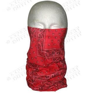 Micro Fiber Tube Face Mask Red Paisley Shield New Wholesale CLOSEOUT