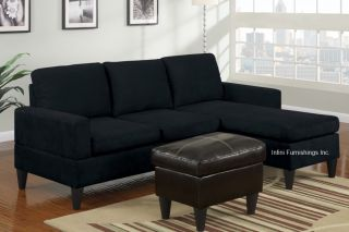 Microfiber Sectional Sofa and Ottoman Set F7287 Couch Furniture