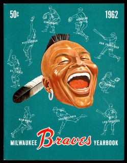 1962 Milwaukee Braves Year Book Exceptional Color