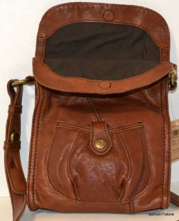 Lucky Brand Mini Abbey Road Foldover Bag Purse Sac Bolsa Väska