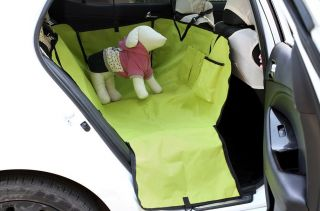 New Dog Car Double Back Seat Cover Hammock 600D Oxford Waterproof Top