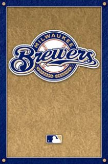 Milwaukee Brewers Baseball Official MLB Team Logo Poster
