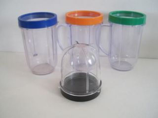 Magic Bullet Clear Smoothie Party Cups Mini Blender Mugs Lip Ring Mug