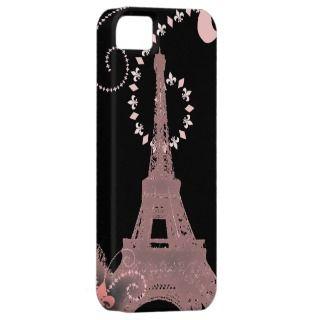 modern pink vinage paris eiffel ower iPhone5case iPhone 5 Cover