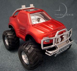 Mini Clocks Monster Truck Big Foot 4x4 Alarm Clock
