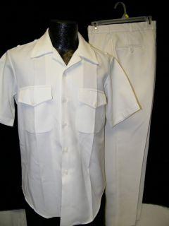 Vintage Sea Eagle Navy Sailors Military White Uniform