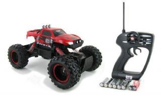 Rock Crawler 4x4 RC Truck Off Road Metallic Red Maisto Tech Tri