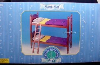 Bunk Bed Wooden for American Girl 18 Doll Collectors Lane Cherry