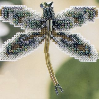 Dragonfly Beaded Cross Sich Ki Mill Hill 2000 Spring Bouque