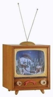 Holiday Musical Rotating Christmas Winter Scene TV Box