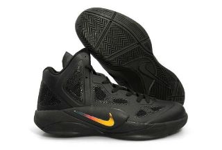 New Nike Mens Nike Zoom Hyperfuse 2011 High Top Black Basketball Shoes