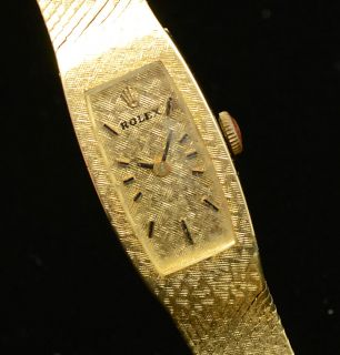 Vintage Ladies Rolex Watch 14k Solid Yellow Gold Manual Wind