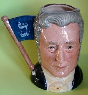 Royal Doulton SIGNED   SIR HENRY & MICHAEL Double Sided Character Jug