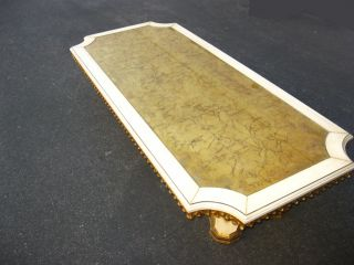 Large Vintage Mid Century Gold Gilt Coffee Table Hollywood Regency