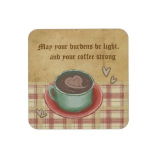 Irish coffee blessing beverage coaster