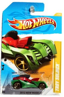 2012 Hot Wheels New Models 1 Troy Solider Green Red