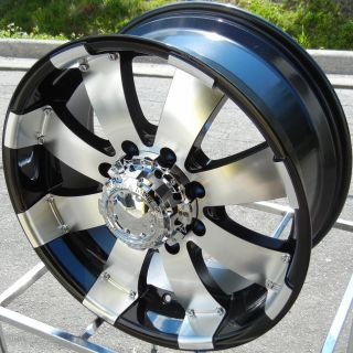 20 Black Ultra Mako Wheels Rims 2012 GMC Sierra Chevy Silverado 2500