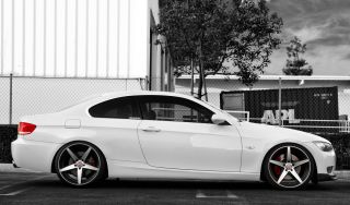 20 Bavaria Wheels BC5 Machined Black BMW M3 E90 E92 E93 08 Staggered