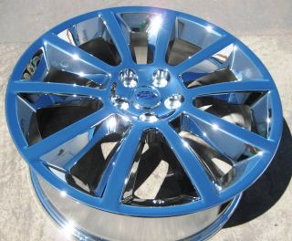 FACTORY FORD FLEX CHROME OEM WHEELS RIMS 2010 2012 EXCHANGE YOUR STOCK