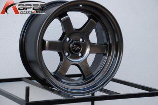 16x8 Rota Grid V 4x100 20 Hyper Black Wheel Fits Civic MR2 XB
