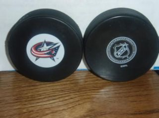 Columbus Blue Jackets Current Design Inglas Hockey Puck