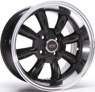 Str Racing 503 Wheels 15x7 5 4x100 Rims Et 10mm Gloss Black