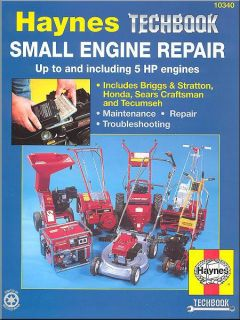 Small Engine Repair Manual 5HP Lawn Mowers Garden Tillers Generators